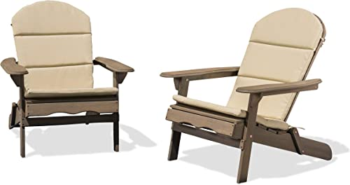 Christopher Knight Home 304621 Amenda Outdoor Acacia Wood Adirondack Chairs Set of 2