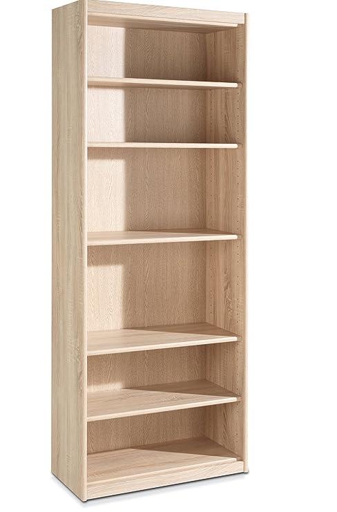 Scaffale libreria in legno di rovere grezzo Tiffi 12: Amazon ...