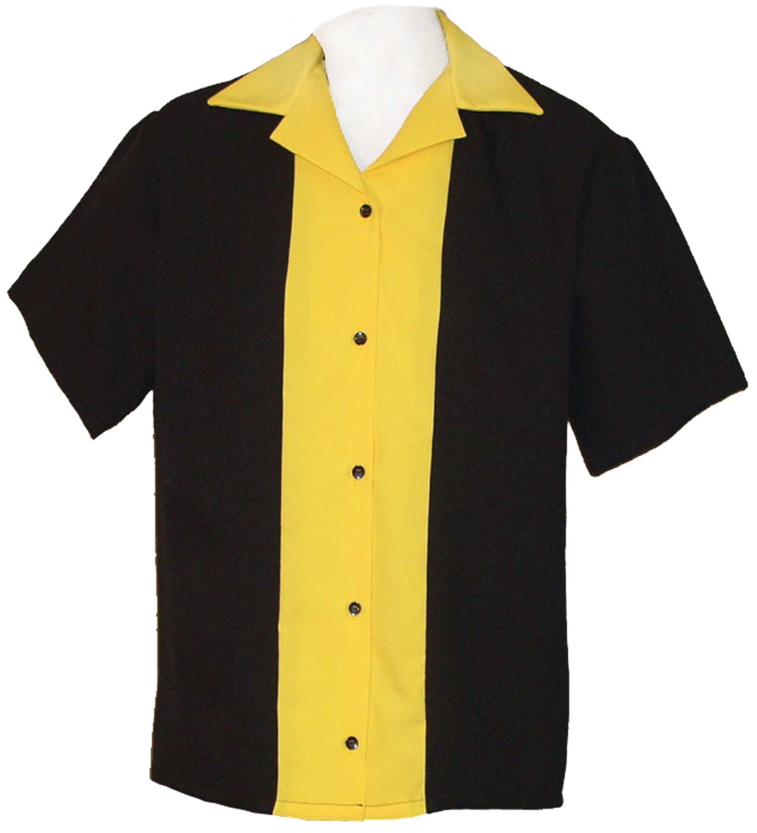 Tutti Ladies Retro Bowling Shirt 50's Style Classic 57 Womens Bowling Shirts (Small) Yellow