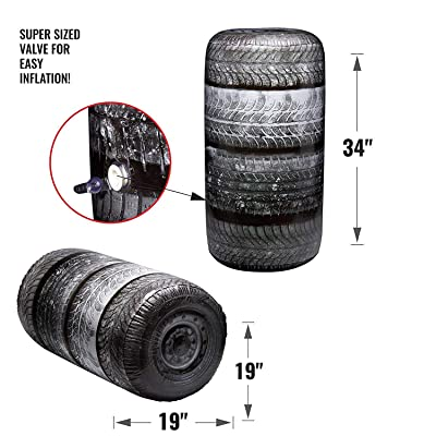 BUNKR Battle Zones Inflatable Tire Stack: Toys & Games