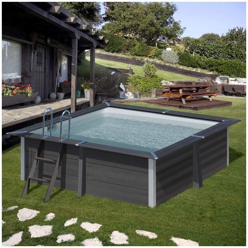 Gre Pools KPCOR28 KPCOR28-Piscina Compuesto Cuadrado AVANTGARDE 326 x 326 x 96 cm, con Escalera de Acero Inoxidable y Filtro de Arena 4 m3/h, Multi: Amazon.es: Jardín
