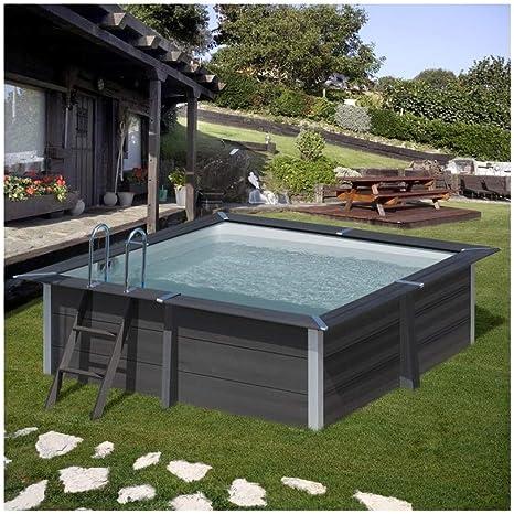 Gre Pools KPCOR28 GRE KPCOR28-Piscina compuesto cuadrado AVANTGARDE 326 x 326 x 96 cm, con escalera de acero inoxidable y filtro de arena 4 m3/h, Multi: Amazon.es: Jardín