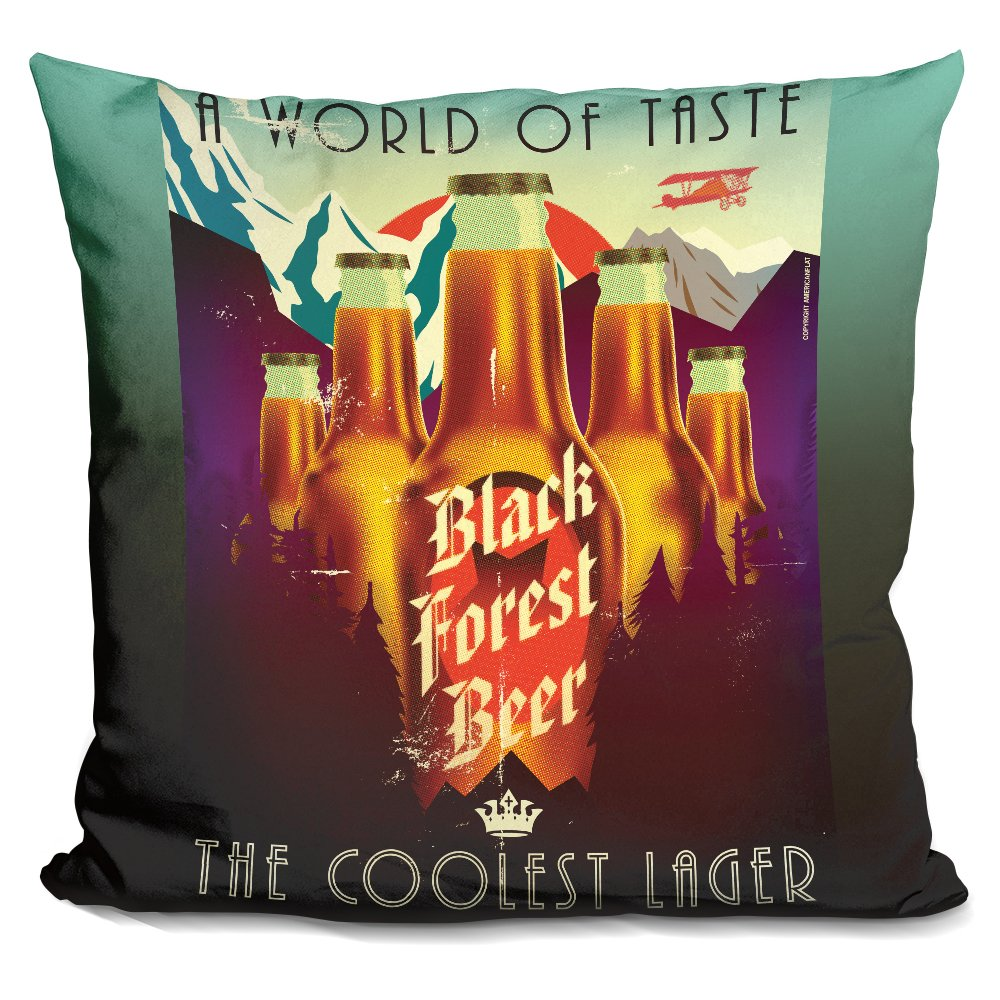 LiLiPi Black Forest Beer Decorative Accent Throw Pillow