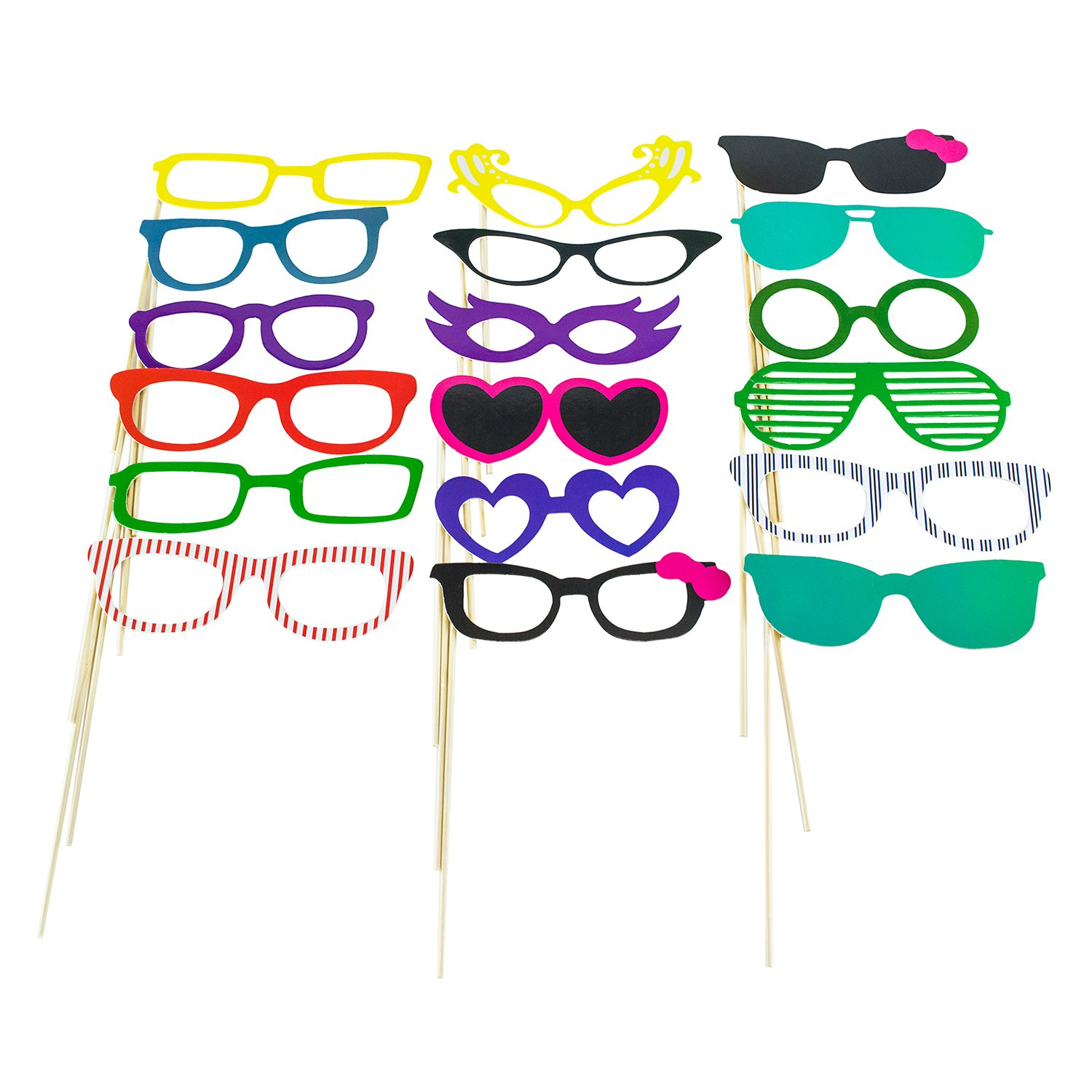9e7008ceb1f Amazon.com  Super Z Outlet Photo Booth Props Photography Stick Face Mask  Mustache Glasses Paper DIY Kit for Party Favors