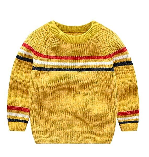 Amazon.com Lutratocro Boy Casual Cute Stripe Knits Crewneck