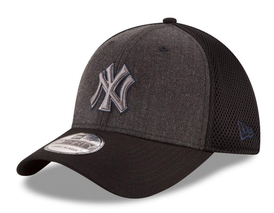 size 40 3e1a7 4907d ... discount amazon new era new york yankees mlb 39thirty heathered black  neo flex fit hat sports