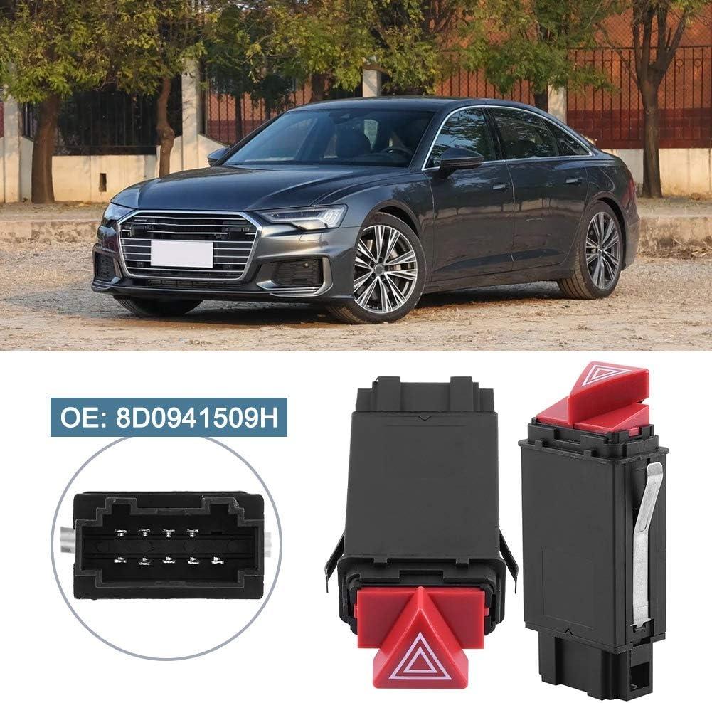 Liukouu Commutateur de clignotant durgence pour Audi A4 S4 8D0941509H