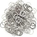 200pcs Round Metal Split Keychain Rings for Car Home Keys Organization DIY Crafts Makings (20mm)