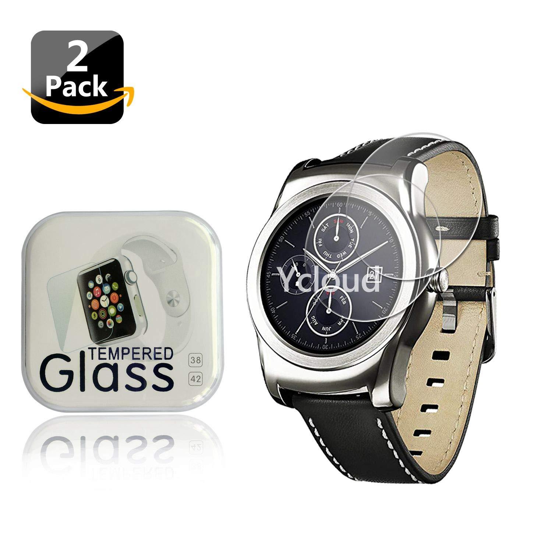 Ycloud [2-Unidades Protector de Pantalla de Vidrio Templado para LG Watch Urbane Smartwatch Alta Definicion 9H Dureza Anti-Explosion