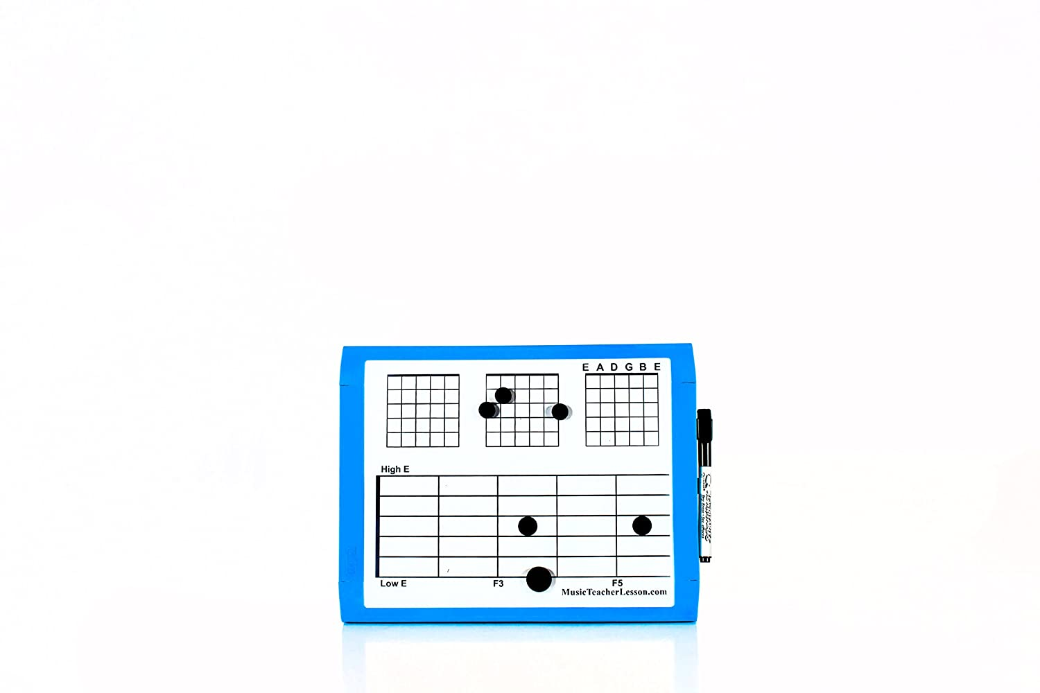 Small Magnet and Dry Erase Guitar Music Board (11 Inches X 9 Inches) Music Teacher Lesson MDE-SM-GTR