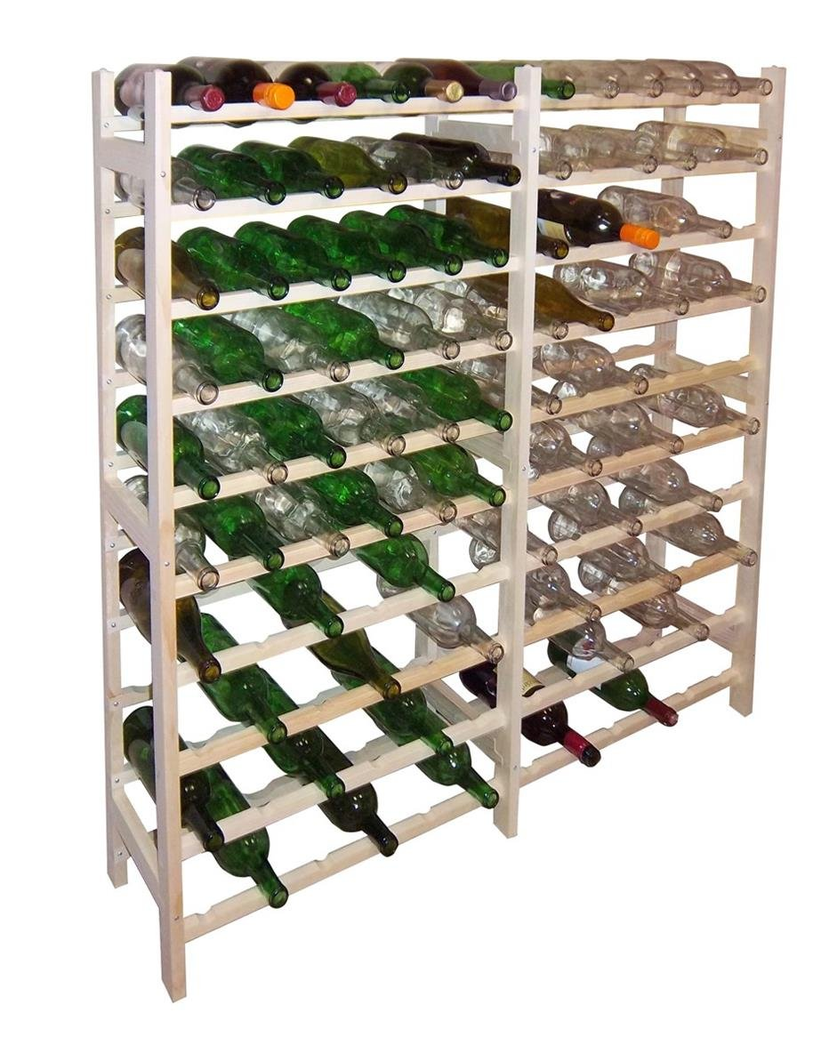amazoncom homeapp vinland 120 bottle wine rack 12 wide by 10 high home supply maintenance store industrial u0026 scientific