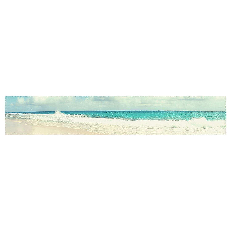 16 x 180 KESS InHouse Sylvia Cook Beach Time Brown Blue Table Runner