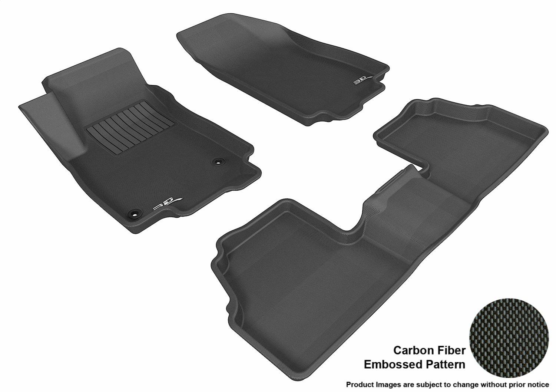 3D MAXpider Complete Set Custom Fit All-Weather Floor Mat for Select Buick Encore Models - Kagu Rubber (Black) L1BC01601509