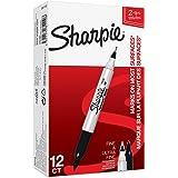 Sharpie (S0811100) Marqueurs Permanents à Pointe Double, Noir, Boîte de12