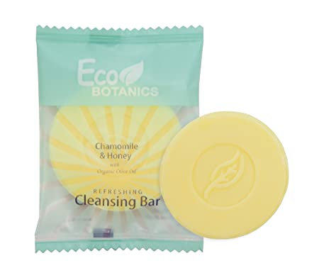 Eco Botanics Travel-Size Hotel Cleansing Bar Soap, .5 oz Case of 1000