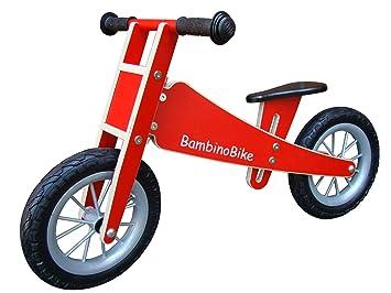 Bambino Bike Kinderlaufrad Holz rot Holzrad, P1574: Amazon co uk