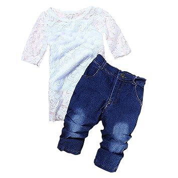 SODIAL (R) las niñas Fashion Denim Ropa Conjuntos Niños ...