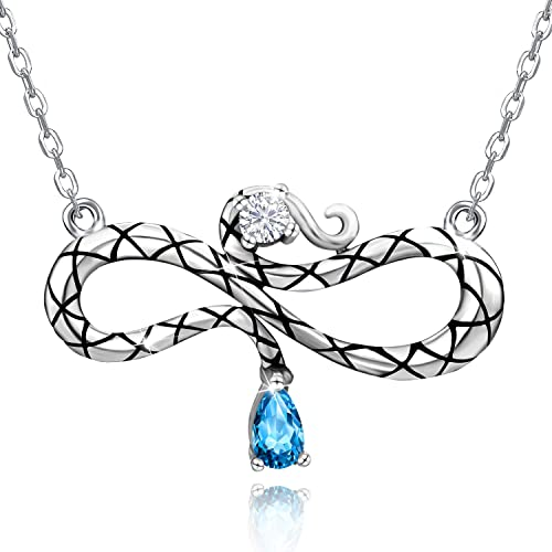 Silver abstract 5 heart pendant snake chain necklace Jewellery Women Ladies Gift