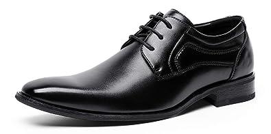 Amazon.com: DOLCARA Zapatos de hombre Oxford con cordones ...