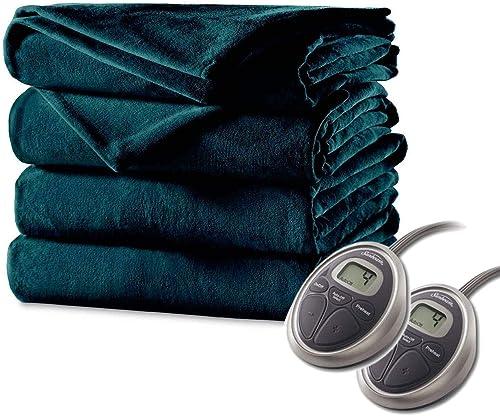 Sunbeam Luxurious Electric Heated Blanket Premium Plush