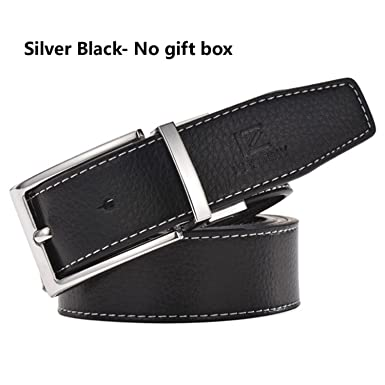 Reinhar Genuine Leather Belt Men Luxury Designer Silver Gold Belts Wedding  Strap Male White Blue Cinto 19492cbfc02