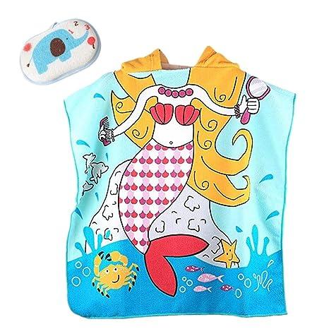 FamyFirst - Toalla con Capucha para niños, algodón con Capucha, para baño, Playa