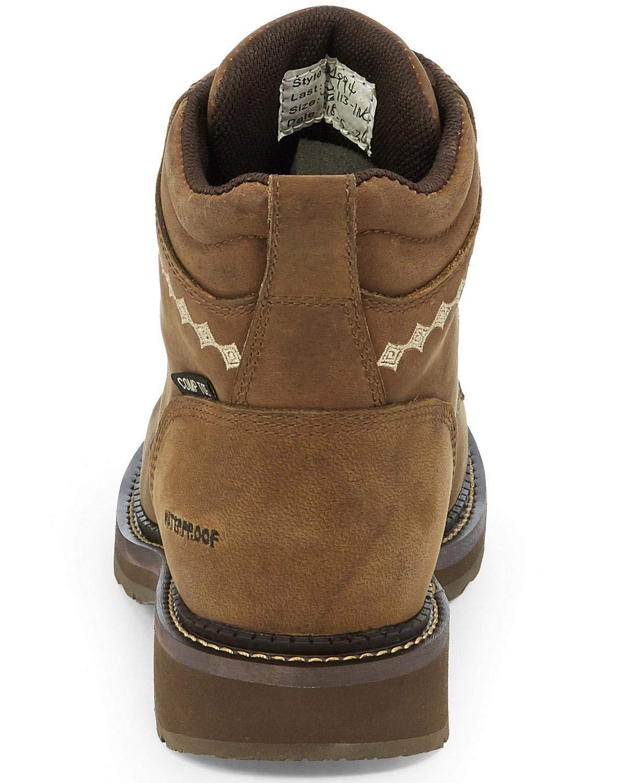 Justin Womens Lanie Waterproof Work Boot Composite Toe Brown 7.5 M