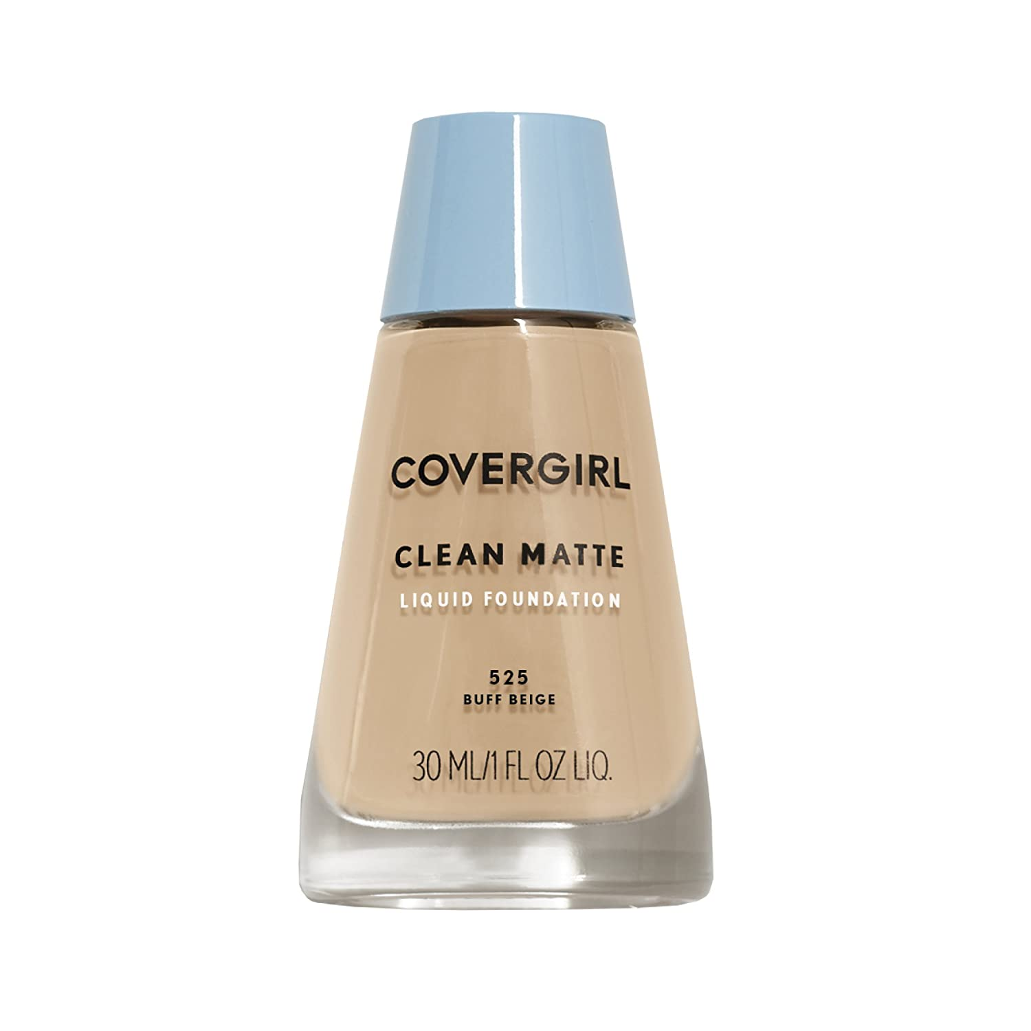 COVERGIRL Clean Matte Liquid Foundation Buff Beige 525, 1 oz (packaging may vary)