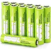 100% Peak Power oplaadbare batterijen AAA - Duurzame Keuze - NiMH AAA batterij micro 800 mAh - 12 stuks