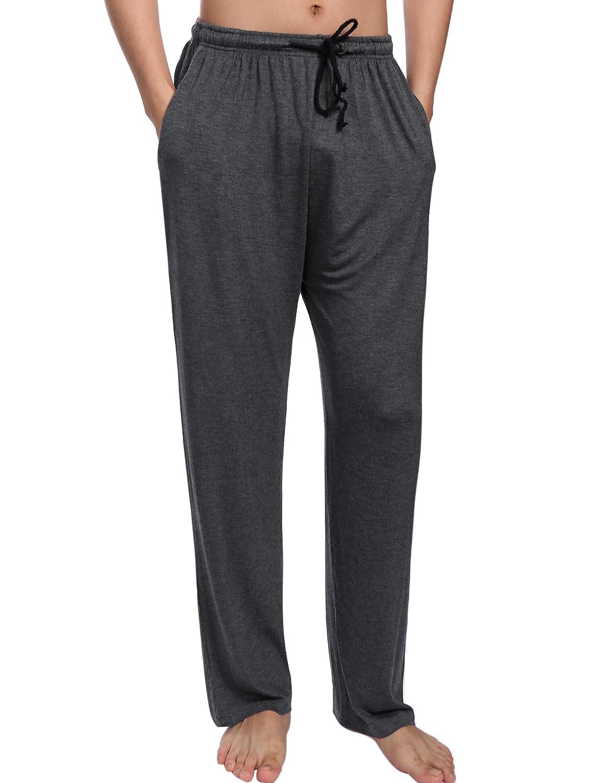 Aibrou Pantalon Bas de Pyjama Homme Vêtements de Nuit Pantalon de pyjama Homme pour tous les saisons