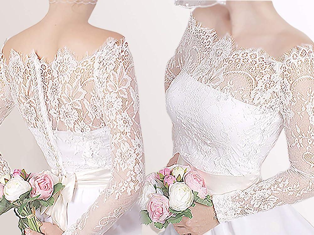 NEW Ivory Lace Bolero Shrug Wedding Jacket 3//4 Sleeve 14068