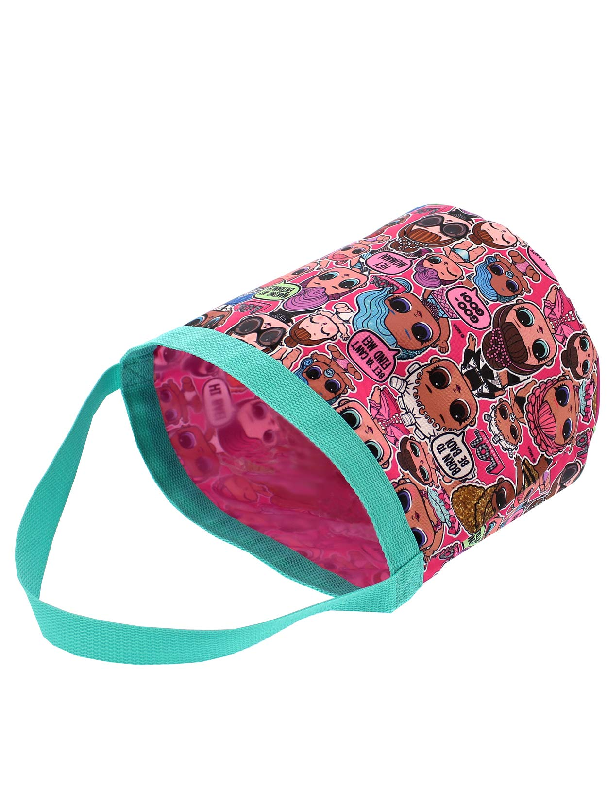 L.O.L. Surprise! Girls Collapsible Nylon Beach Bucket Toy Storage Gift Tote Bag (One Size, Pink) by L.O.L. Surprise! (Image #5)