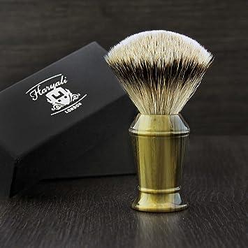 5557ee63 Haryali London Hand Assembled Imitation Horn Handle (Silver Tip Badger Hair  Shaving Brush) Sophist