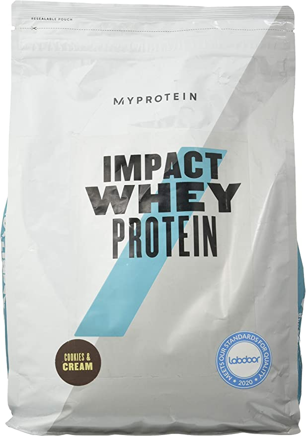 Myprotein Impact Whey Protein, Cookies and Cream, 1 paquete (1 x 2500 g)