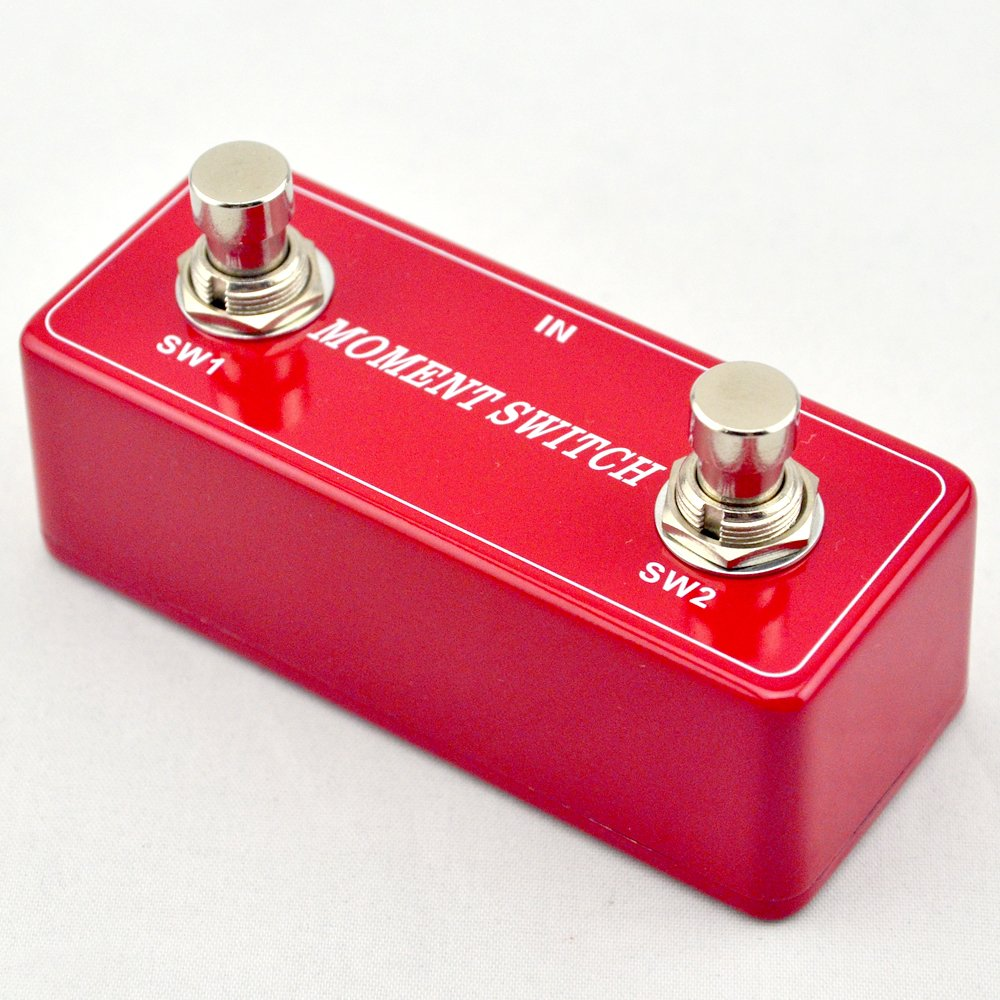 TTONE New Guitar Moment Effects Pedal Foot Switch Dual2 Channel AMP Footswitch Mini (red)