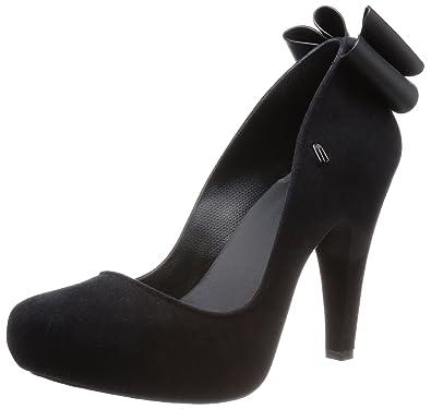 857759dbbe3 Melissa Black Incense Bow 12 Women s Court Shoe 36 Black Fabric ...