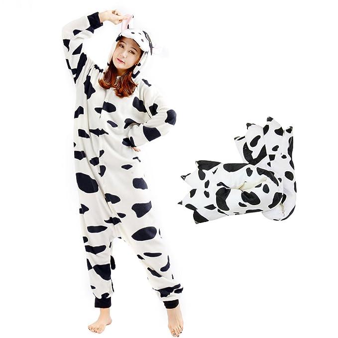 Casa Vacas Onesie Pijamas Kigurumi Animal Unisexo para Adultos Traje de Cosplay Disfraz para Festival de
