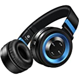 Bluetooth Headphones, Darkiron P6 Headphones Over Ear with Built-in Mic HD Stereo Sound Noise Reduction Wireless Headsets with Volume Control Foldable and Wired Mode for PC/ Cell Phones/ TV