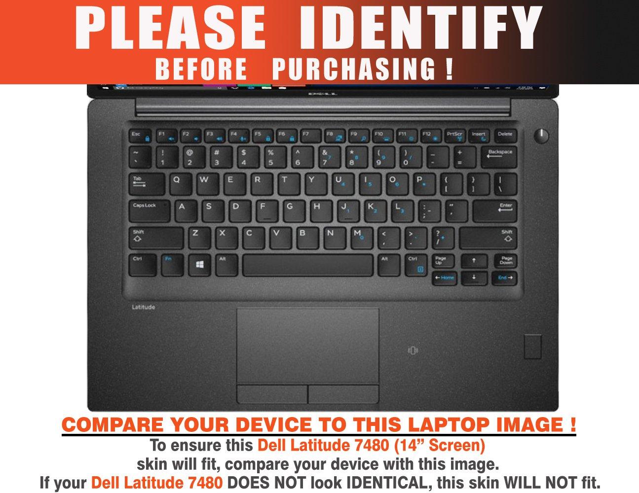 Decalrus - Protective Decal Skin Sticker for Dell Latitude 7480 (14'' Screen) case cover wrap DElatitude7480-10 by decalrus (Image #2)
