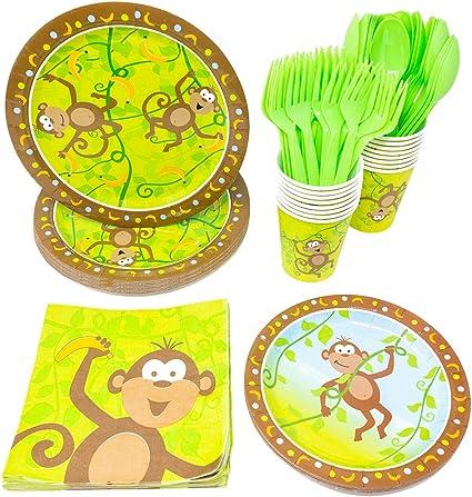 Amazon.com: overol de fiesta paquetes (65 + piezas de fiesta ...