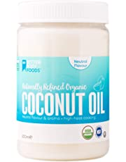 BetterBody Foods Organic Naturally Refined Coconut Oil with Neutral Flavor and Aroma, Contains 60% MCTs, High-Heat Cooking Oil to 218 C, 830 ml