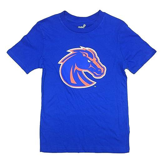 Amazoncom Boise State Broncos Blue Primary Logo Youth T Shirt