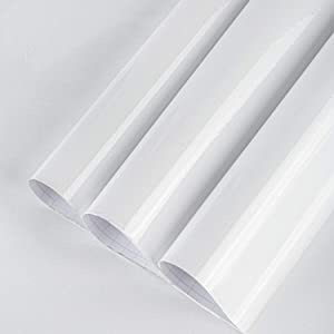 BAYYA White Contact Paper for Cabinets Countertops, Waterproof Peel and Stick Wallpaper for Kitchen Bathroom Living Room Walls, Vinyl Furniture Stickers Decorative Self-Adhesive Film (Glitter White)