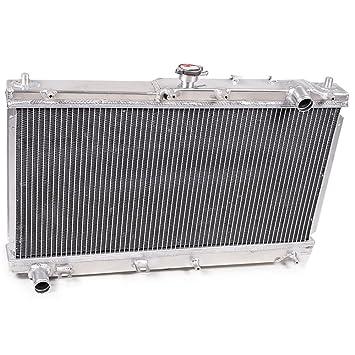 46mm alto flujo aluminio doble núcleo motor raza radiador de enfriamiento