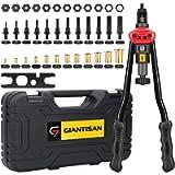 Giantisan 16' Rivet Nut Tool, Professional Rivet Nut Tool Setter Kit Including 12 Metric and SAE Mandrels, 120Pcs…