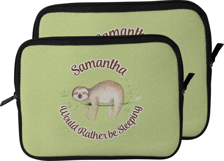 Personalized 13 Sloth Laptop Sleeve//Case