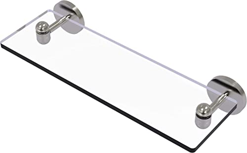 Allied Brass TA-1 16 Tango Collection 16 Inch Vanity Beveled Edges Glass Shelf, Satin Nickel