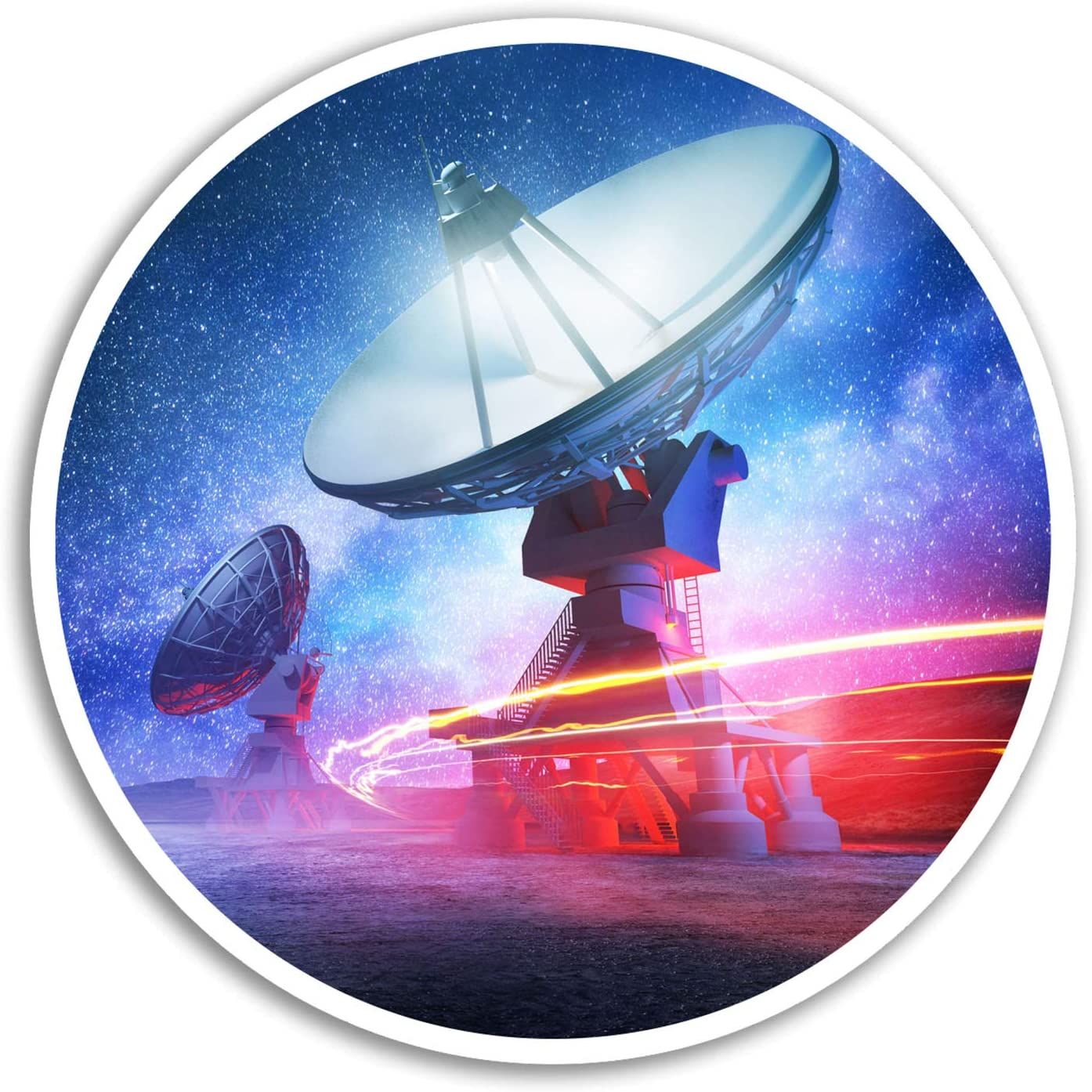 2 x 10cm Telescope Vinyl Stickers - Space Aliens Sticker Laptop Luggage #8216 (10cm Wide)