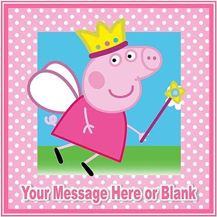 Nd2 Peppa Pig Joyeux Anniversaire De Princesse Carre Personnalise Gateau Environ 19 1 Cm Ou Plus Petites Sur Demande Sur Glacage Amazon Fr Cuisine Maison