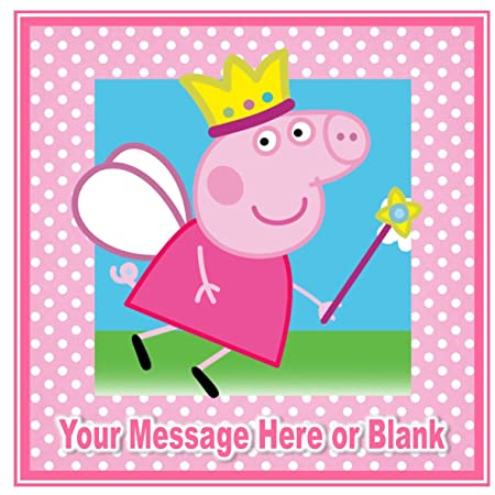 ND2 Peppa Pig princesa hada cumpleaños cuadrado ...